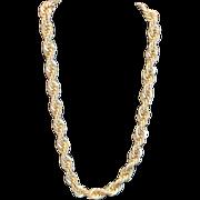Vintage Napier twisted goldtone color rope chain