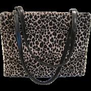 Vintage faux leopard print purse by Bebe