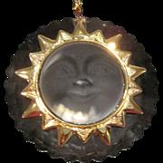 Swarovski crystal smiling sun pendant NIB