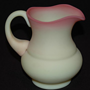 SALE Fenton Art Glass Co.,Burmese Satin Glass Creamer