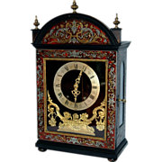 REDUCED Antique French Boulle Marquetry Bracket  Clock