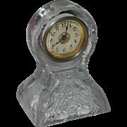 SOLD American miniature cut glass desk clock