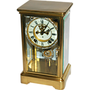 SOLD Antique American Ansonia Crystal Regulator Clock