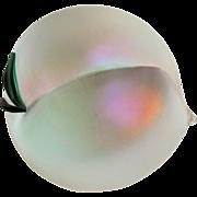 SALE Zellique Art Glass Iridescent Peach Paperweight