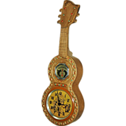 SOLD C.1930 Animated Novelty Guitar Wall Clock