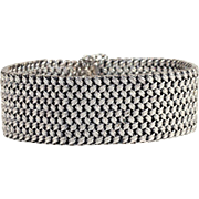SALE PENDING Vintage French Wide Silver Bracelet, Handcrafted Beauty!