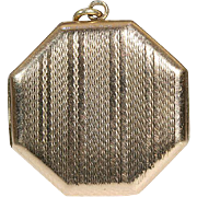 Vintage Art Deco Gold Octagonal Locket, 9k c.1920