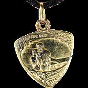 Gorgeous Romantic Antique French Slide Locket Pendant, 18k Gold