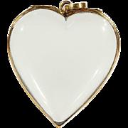 SALE Antique Victorian Heart Shaped Cut Rock Crystal Frame Locket Pendant in 15k Gold