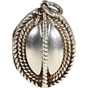 Antique Victorian Sterling Silver Locket with 'Block and Tackle' Nautical Motif