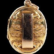 Lovely Antique 15k Gold Victorian Locket