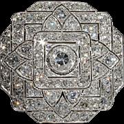 Spectacular Platinum Art Deco 7+ Carat Diamond Pin & Pendant, *Video* - Clearance Sale!!