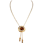 Imperial Topaz Necklace, Edwardian, 14.5+ Carat in 18k Gold
