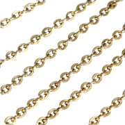 Antique 9k Gold Chain for Pendants, c. 1910, 22.5 inches