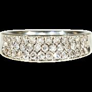 SALE Vintage 18k Diamond Wedding Band c.1960, *Video*