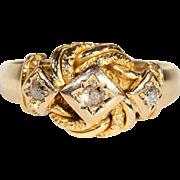 SALE Man's Heartfelt Edwardian Love Knot Wedding Band Ring