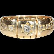 SALE Antique 18k Edwardian Diamond Ring Hallmarked Chester, England 1902