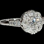 Vintage 18k and Platinum Art Deco Diamond Engagement Ring c.1930, *Video*