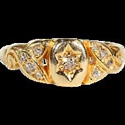 SALE Antique Edwardian Diamond Ring in 18k Gold, Engagement, Wedding
