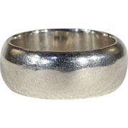Antique Sterling Silver Wedding Band Ring, Hallmarked London, 1877, Size 9.5