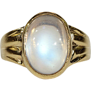 Antique Moonstone Ring in 18k Gold for a Man or a Woman
