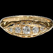 SALE Vintage 18k Edwardian Diamond Ring Hallmarked Birmingham, England 1913