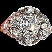 Antique Edwardian Diamond Dome Ring in Platinum, c. 1910