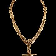 Stunning Antique Victorian 9k Rose Gold Watch Chain