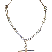 Perfectly Lovely Antique Sterling Silver Watch Chain