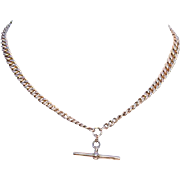 Antique Edwardian 9k Gold Watch Chain, 17.5 inches