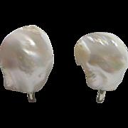 SALE Lovely Mother of Pearl Screw Back Earrings