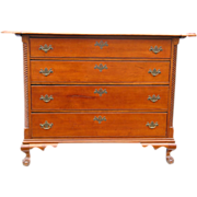 Important Cabinetmaker-Signed 18th Century Litchfield County CT Chippendale Cherrywood ...