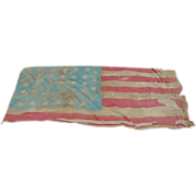 Historic Battle Scarred 34-Star 1861 US Civil War Battle Flag Provenance