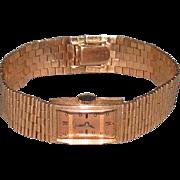 c1930s Paul Ditisheim Solid 14K Rose Gold Swiss Wrist Watch