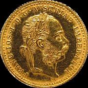 1915 Austria One Ducat Gold Coin