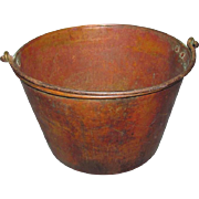 Large Ansonia Copper Apple Butter Kettle 1880s