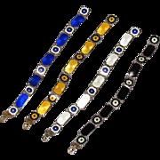 4 David Andersen Sterling Guilloche Gold Gilt Matching Bracelets
