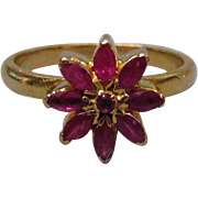 Victorian 20K Gold & Ruby Ring