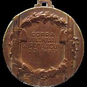 WWII Era Italian Fascist Mussolini Sailing Medal