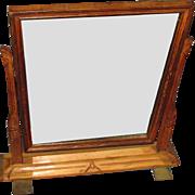 Art Nouveau Hand Carved Hardwood Table or Dresser Mirror