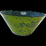 SOLD Rare Eames Era Mid- Century Modern  Enamel  Bowl-Lime Green Hanova,Pasadena,Ca. - Red Tag