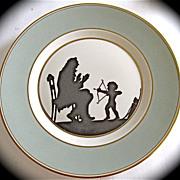 "SALE Rare Royal Copenhagen Silhouette Collector Plate Signed"" Else Hasserlis"" Rare P"