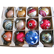 VIntage Christmas Glass & Mica Ornaments 1940's-50's