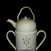 Late 18th Century English Creamware Food Warmer Marked Wedgwood