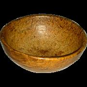 "Small (7 ¾"") American Ash Burl Bowl, 19th century"