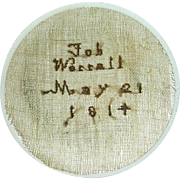 SOLD Needlework on Gauze Watch Sampler w/ Name and Date: Job Worrall, May 21, 1814