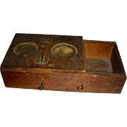 Triple-Chambered Wooden Bee Box w/ Glass Windows, Early 20th Century