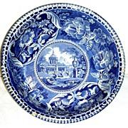 Large Blue Historical Staffordshire Potato Bowl