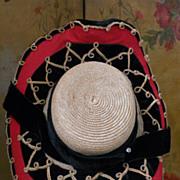 """~~~ Pretty Antique French Doll´s Bonnet """" A Deaux Bonjours"""" ~~~"""