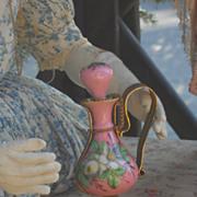 ~~~ Wonderful 19th. century Porcelain Parfum Holder for French Poupee ~~~